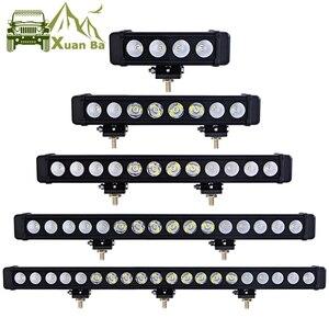 Image 1 - XuanBa 10 w/pz Led barra luminosa auto luce esterna 12V Led Bar Offroad 4x4 SUV ATV camion trattore faretto Led lavoro luci di guida