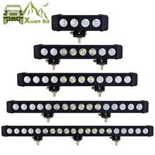 Фотография XuanBa 10W/Pcs Led Light Bar Car External Light 12V Led Bar Offroad 4x4 SUV ATV Truck Tractor Spotlight Led Work Driving Lights