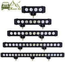 Xuanba 10ワット/ピースledライトバー車の外光12v ledバーオフロード4 × 4 suv atvトラックトラクタースポットライトledワークライト