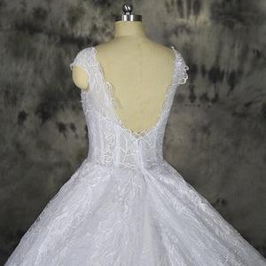Image 5 - Vestido דה Noiva תחרה נוצצת חתונה שקוף למעלה מיוחד תחרה חתונה שמלת תפור לפי מידה מפעל סיטונאי מחיר כלה שמלה
