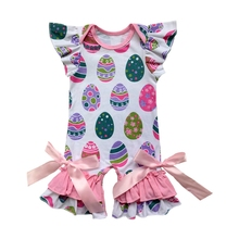 10896f3b19a Pink hearts Donuts Spring easter egg Infant Clothes Matching Jumpsuit Baby  St. Patrick shamrock Romper. 21 Colors Available