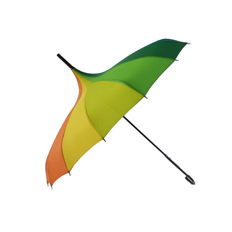 50pcs Fashion Rainbow Pagoda Palace Creative Umbrella Sun Rain Lady Princess Royal Long-handled Straight Golf Umbrella ZA1171