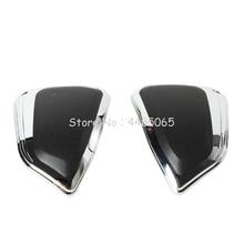 купить Chrome Motorcycle Saddle Bag Protector Trim Cover Case for HONDA Goldwing 1800 GL1800 F6B 2012-2017 дешево
