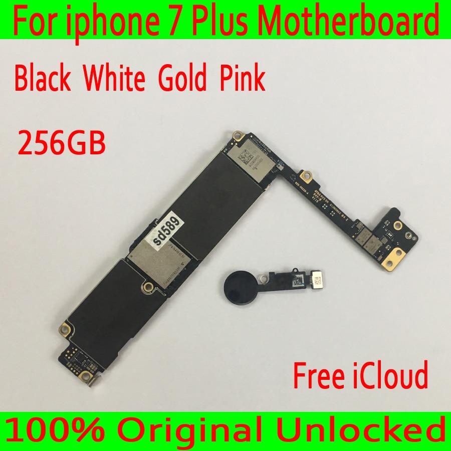 С бесплатной iCloud для iphone 7 Plus материнская плата 256 ГБ Оригинальная разблокирована для iphone 7 Plus логическая плата с сенсорным IDGood протестирован...