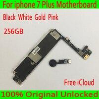 С бесплатным iCloud для Apple iphone 7 Plus материнская плата 256 ГБ Оригинал разблокирована для iphone 7 Plus логическая плата с сенсорным IDGood протестирована