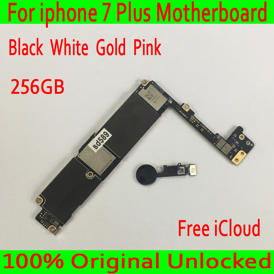 Con Trasporto iCloud per iphone 7 Plus Scheda Madre 256 GB sbloccato Originale per iphone 7 Plus Scheda Logica con Touch IDGood Testato