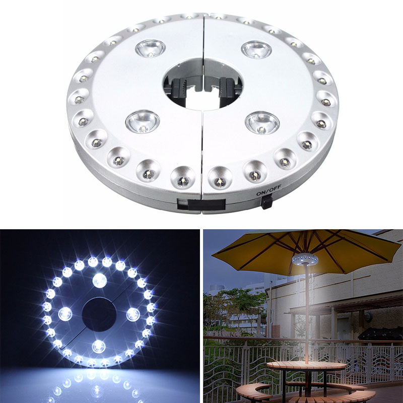 Cantilever  Patio Garden  Umbrella Light Outdoor Cantilever Pool Cordless Stand Deck Light Table Camping LB88