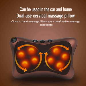 Image 5 - Boyun masajı araba ev servikal Shiatsu ısıtma masaj boyun geri bel vücut elektrikli çok fonksiyonlu masaj yastığı yastık