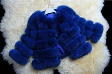 genuine real natural fox fur coat women's fashion fox fur jacket overcoat Wholesale retail EMS Free Shipping