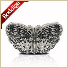 Heißer Verkauf Diamant Kupplungen Kristall Frauen Schwarzen Abendtaschen Mujeres Bolso Tier Form Party Handtasche mit lange Kette DHL freies