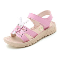 COZULMA Baby Girls Summer Beach Sandals Baby Kids Shoes Girls Rivets Rabbit Sandals Open Toe Princess