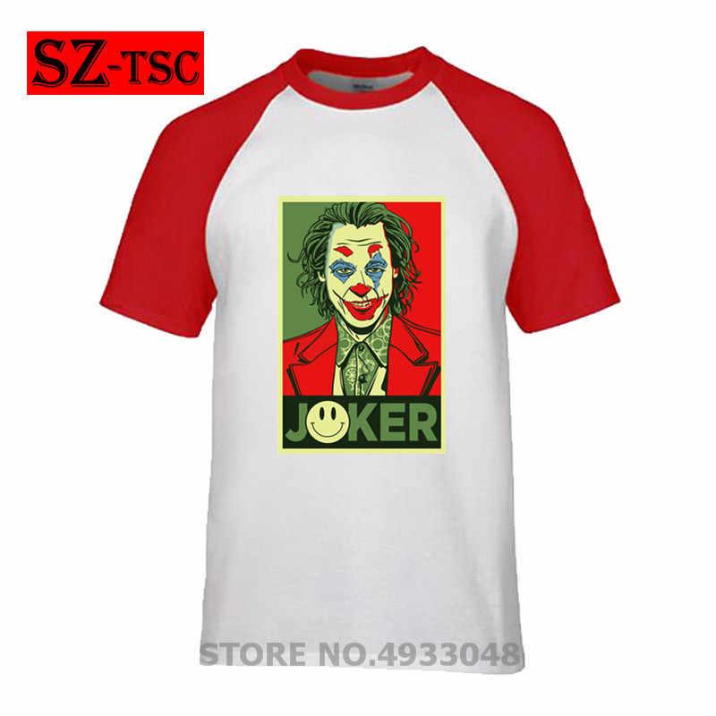 Летняя трендовая Мужская футболка со стальным дизайном, футболка с кольцом и рукавом dc, повседневная одежда с круглым вырезом и принтом joaquin phoenix JOKER