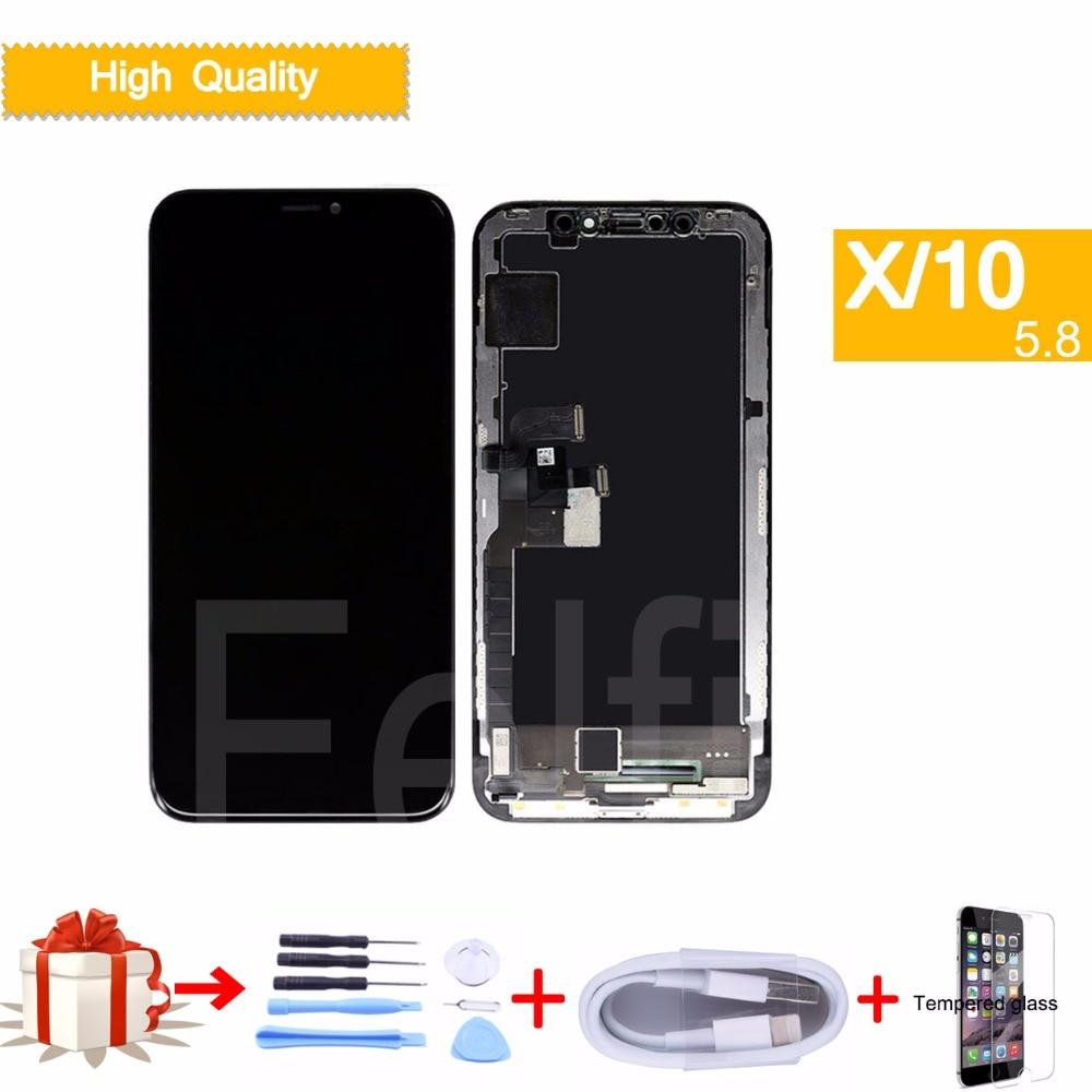 LCD complet Pour iphone X Affichage Écran Tactile Digitizer Remplacement Assemblée Complet pour iphone X 10 lcd d'origine