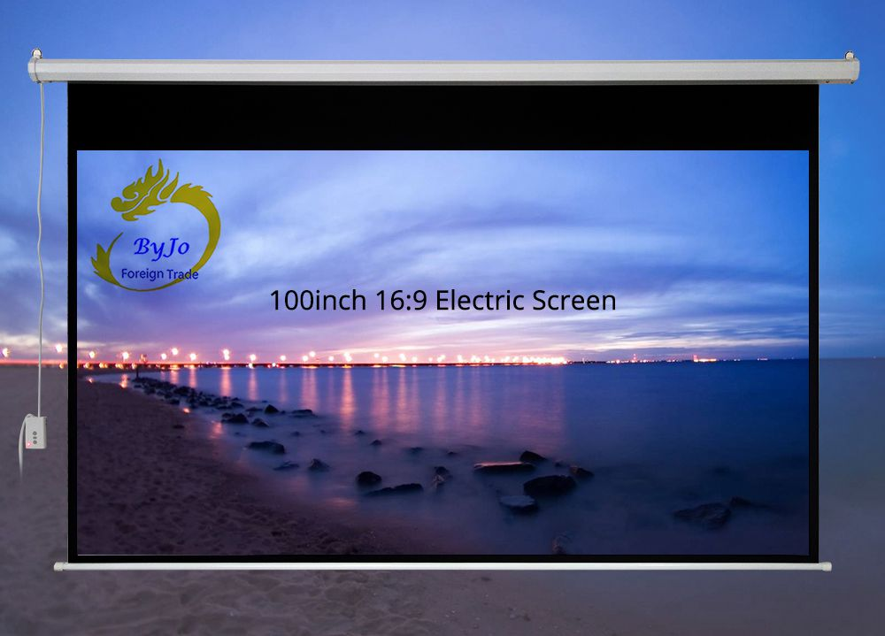 100 inch 16:9 or 4:3 Electric curtains Motorized Screen for All LED LCD DLP Laser Projector Electric Projector Screen support for customfree shipping 120 inch projector mount screen 16 9 gf grey