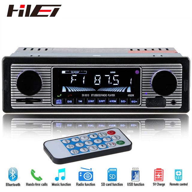 new 12v car radio player bluetooth stereo fm mp3 usb sd. Black Bedroom Furniture Sets. Home Design Ideas