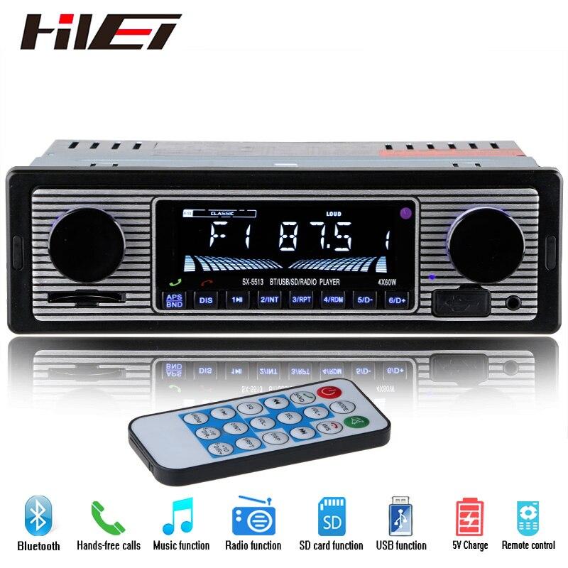 NUEVA 12 V Del Coche Reproductor de Radio Estéreo Bluetooth FM MP3 USB SD AUX de