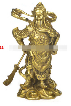 Copper bronze statue of Wu font b knife b font opening gifts sent Lucky Fortuna town