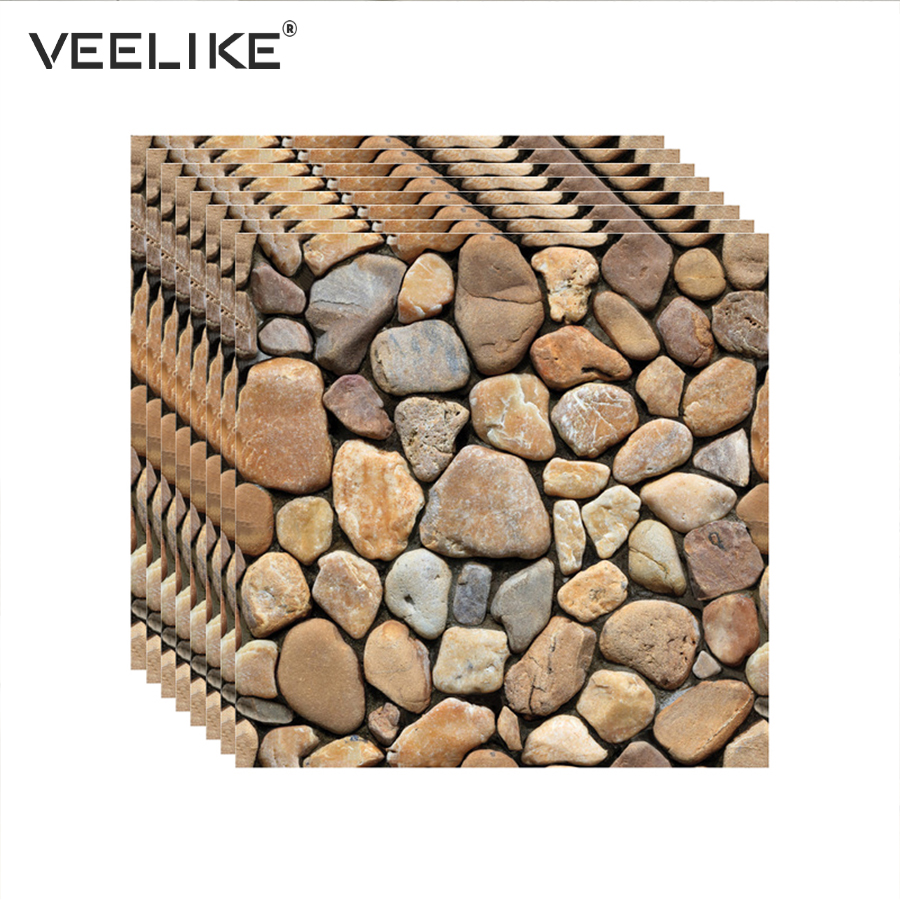 Decorative 3D Wall Panels Brick Self Adhesive Wallpaper For Living Room Bathroom Kitchen Backsplash Tile Wall Papers Home Decor