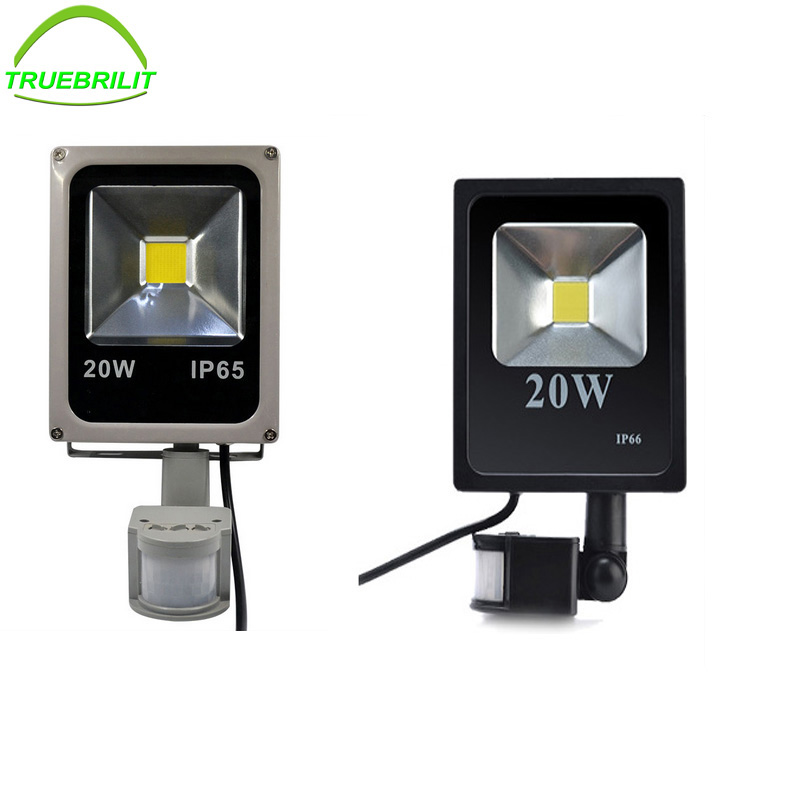 20W Flood Lights LED Motion Sensor Floodlights Induction Sense Reflector Outdoor Spotlights IP65 85-265V