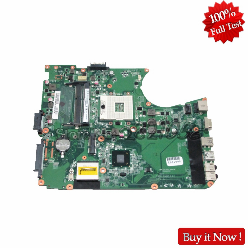 NOKOTION DABLBMB16A0 Main Board For Toshiba Satellite L750 L755 A000081420 Laptop Motherboard HM65 DDR3 Socket pga989 nokotion a000175380 laptop motherboard for toshiba satellite c840 l840 main board ati hd7670m graphics ddr3 daby3cmb8e0