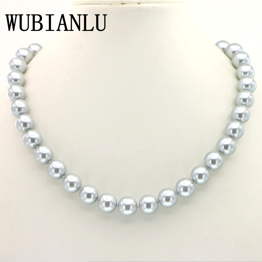 14 Colors 12mm Gray Glass Pearl Necklace 45cm Fashion Choker Necklaces Womens Costume Jewelry Gifts Gift Wholesale Discounts