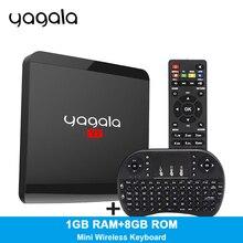 Yagala Y7 Android TV Box RK3229 Quad Core TV Box Android 7.1 ОЗУ 1 ГБ ROM 8 ГБ HDMI 2.0 4 К x 2 К HD 2.4 г Wi-Fi мини TV Box PK A95X