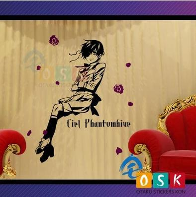Car Sticker Japanese Cartoon Fans Black Butler Ciel Phantomhive Vinyl Wall Stickers Decal Home diy japanese cartoon car stickers animation drift sticker printing carving protection film car funny camouflage graffiti decals