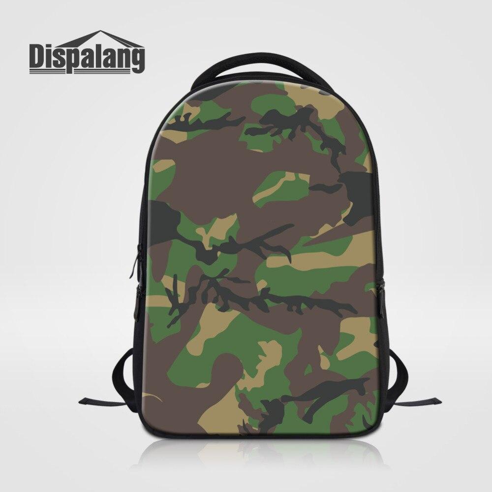 Dispalang sac à dos pour ordinateur portable pour hommes vert Camo imprimé sac d'école pour adolescents sac de voyage Oxford Business Notebook sac à dos Mochila