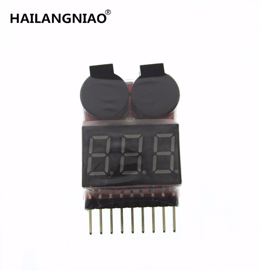 1-8S Lipo/Li-ion/Fe RC helicopter airplane boat etc Battery Voltage 2 IN1 Tester Low Voltage Buzzer Alarm new rc model 2s 3s 4s detect lipo battery low voltage alarm buzzer