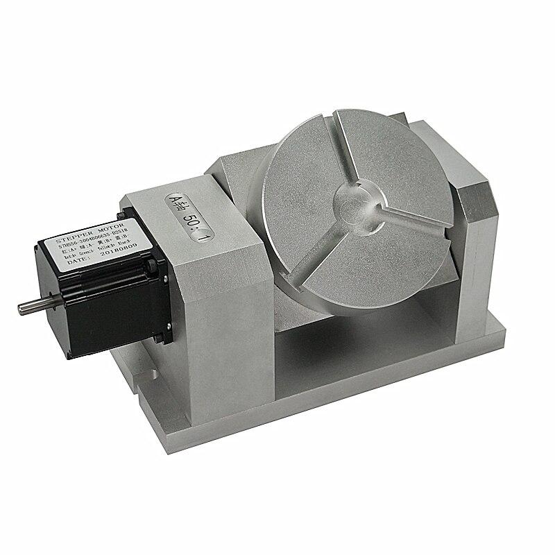 CNC Dividing Head Cnc 5axis Harmonic Gear Chuck 100mm 4th Aixs Rotary Axis Tailstock