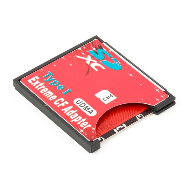 100% haute qualité unique Slot extrême pour Micro SD/SDXC TF à Compact Flash CF Type I lecteur de carte mémoire graveur adaptateur plus récent 1
