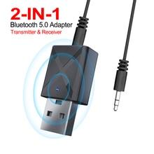 2-в-1 bluetooth адаптер беспроводной usb-адаптер Bluetooth музыкальный звуковой приемник подходит для компьютерная bluetooth-гарнитура смартфон