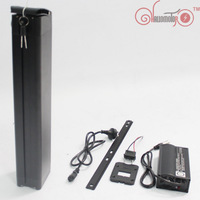 ConhisMotor 48V 26.1AH Ebike Li ion Battery For NCR18650PF Cell with Slim Aluminium Case BMS and 5A Fast Charger