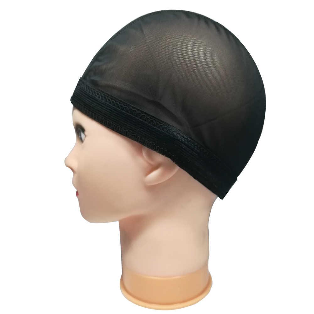 Siatka z lycrą Dome czapka z peruką łatwiejsze szycie w włosach rozciągliwa czapka tkacka bezklejowa siatka do włosów peruka Liner tanie czepek na perukę do wyrobu peruk