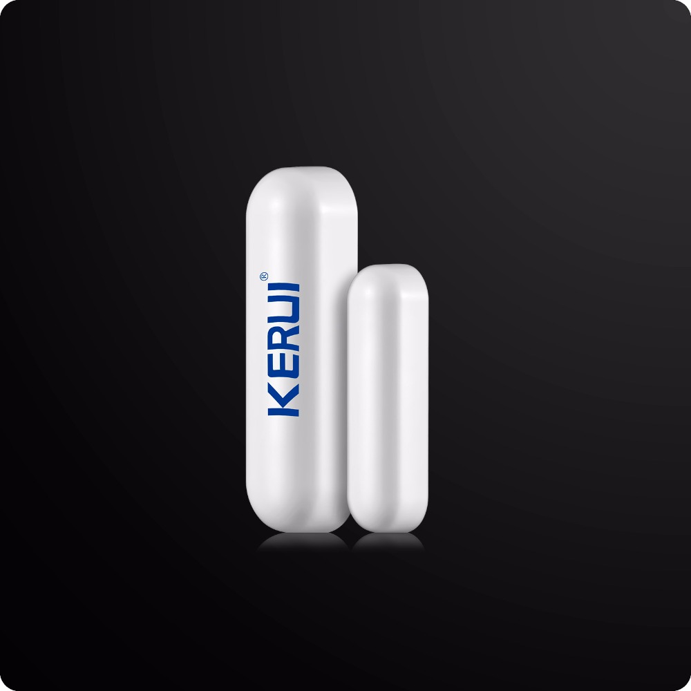 Kerui LCD Wireless Wired GSM SMS Home Alarm System Russian/Spanish/French Voice Wireless Curtain PIR Detector GSM PSTN Alarm 1