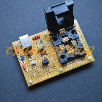 цена на IC TEST STM8-QFP44 Core board STM8A STM8S STM8L Download seat test socket Programmer adapter TQFP44 LQFP44 0.8mm pitch