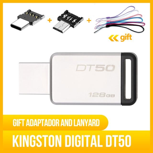 Kingston Digital DT50 USB 3.0 USB Flash Drive 16GB Pendrive Pendrive  Metal Pen Drives Original for PC Laptop (Multicolor)