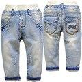 3755 boy jeans luz azul pantalones de los cabritos del bebé pantalones de mezclilla pantalones vaqueros del bebé niño niños