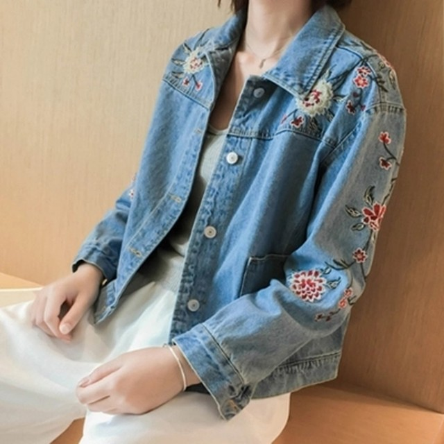 Jackets On Denim 2 Chaqueta Women's 27OffNew 6ct007 Jeans Basic Coats From Print Mujer Women In Clothing Jacket Vaquera Us17 MUzpqSVG