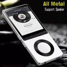 8GB מתכת MP3 נגן עם רמקול תמיכת 128GB זיכרון כרטיס, FM רדיו, אחד מגע הקלטת נגן ספורט HiFi נגן