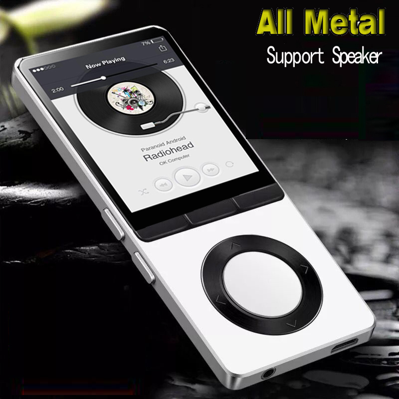 8GB Metal MP3 Player With Speaker Support 128GB Memory Card,FM Radio, One-touch Recording Player Sports HiFI Player