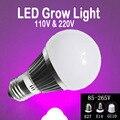 6 w, 10 w, 14 W cresce a luz LED e27, E14, Gu10 lâmpada Full Spectrum para plantas Vegs jardim horticultura e hidroponia crescer / flor