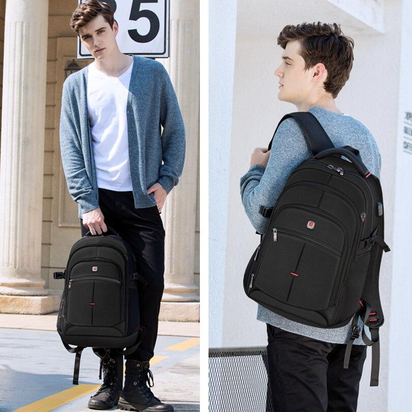 BALANG marque 2019 nouveaux sacs à dos décontractés pour hommes étanche 15.6 pouces sac à dos pour ordinateur portable USB grande capacité sac à dos scolaire pour les garçons - 4