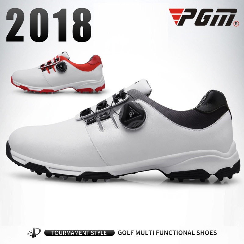 Pgm Golf Shoes Waterproof Sport Sneakers Breathable Non Slip Shoes For Men Knobs Buckle Trainers Plus