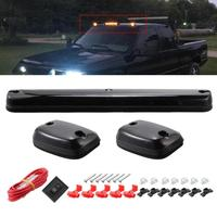3PC Smoke Cab Roof Running Amber Side mClearance Dome LED Lights For Chevy Silverado For GMC Sierra 07 13