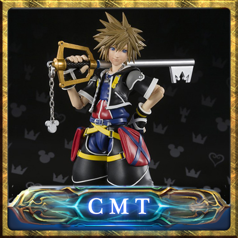 CMT INSTOCK BANDAI TAMASHII NATIONS Original S.H.Figuarts Kingdom Hearts II SHF Sora PVC Action Figure Collection Toys figure cmt original bandai tamashii nations s h figuarts shf dragon ball db kid son gokou action figure anime figure pvc toys figure