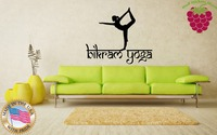 Wall Stickers Vinyl Decal Yoga Pose Exercise Room Yogini Om