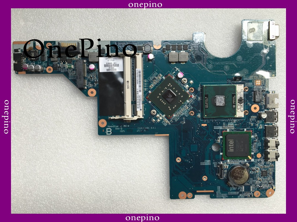 616448-001 with CPU free fit for HP CQ62 G62 laptop motherboard DAAX3MB16A1 GL40 Laptop motherboard tested working give cpu free 577997 001 da00p6mb6d0 for hp g61 cq61 motherboard gl40 ddr2 motherboard tested good free shipping
