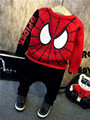 boys christmas clothing spiderman tracksuit kids boy clothes red blouse coat + causal harem long pants spiderman clothing sets