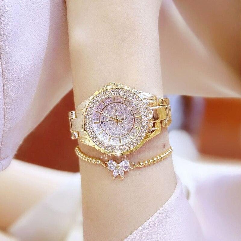 2019 Hot Sell Women Watches Luxury Quartz Lady Watch High Quality Rhinestone Female Wristwatch Casual Clock Relogio Feminino